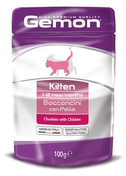 Gemon Cat - Паучи для котят (кусочки курицы) Pouch - фото 15721