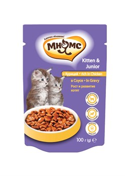Мнямс - Паучи для котят в соусе, рост и развитие котят (курица) - фото 15757