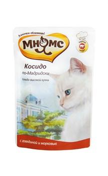 """Мнямс - Паучи для кошек """"Косидо по-мадридски"""" (говядина с морковью) - фото 15761"""