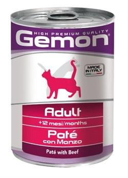 Gemon Cat - Консервы для кошек (паштет из говядины) - фото 15783