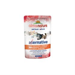 "Almo Nature Alternative - Паучи для кошек ""Куриное филе"", 90% мяса Alternative Chicken Fillet - фото 15959"