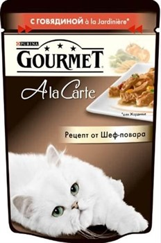 Purina Gourmet - Влажный корм для кошек (с говядиной a la Jardiniere) A la Carte - фото 16094