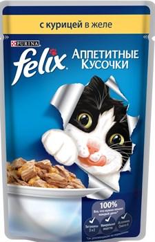"""Purina Felix - Влажный корм для кошек """"Аппетитные кусочки"""" (с курицей) - фото 16139"""
