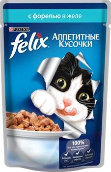 """Purina Felix - Влажный корм для кошек """"Аппетитные кусочки"""" (с форелью и зеленой фасолью) - фото 16143"""