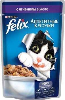 """Purina Felix - Влажный корм для кошек """"Аппетитные кусочки"""" (с ягненком) - фото 16144"""