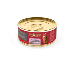 """Molina - Консервы для кошек """"Цыпленок с креветками в соусе"""" - фото 16213"""