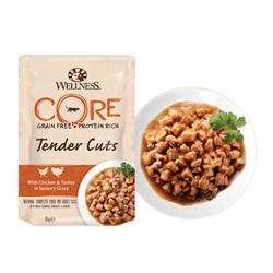 Wellness Core - Паучи для кошек (нежные кусочки индейки и утки в пикантном соусе) Tender Cuts - фото 16235