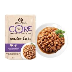 Wellness Core - Паучи для кошек (нежные кусочки курицы и индейки в пикантном соусе) Tender Cuts - фото 16236