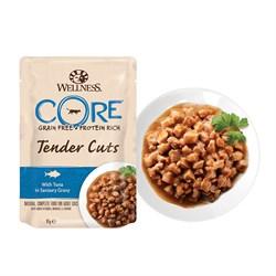Wellness Core - Паучи для кошек (нежные кусочки тунца в пикантном соусе) Tender Cuts - фото 16239