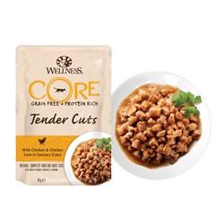 Wellness Core - Паучи для кошек (нежные кусочки курицы и печени в пикантном соусе) Tender Cuts - фото 16240