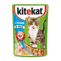 Kitekat - Паучи для кошек (с рыбой в соусе) - фото 16336