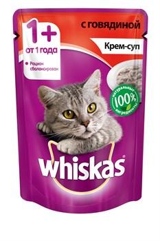 Whiskas - Паучи для кошек (Крем-суп с говядиной) - фото 16342