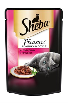 Sheba - Паучи для кошек (с говядиной и кроликом) Pleasure - фото 16382