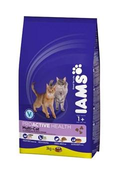 Iams - Сухой корм для кошек (с норвежским лососем и курицей) ProActive Health Adult Multi-Cat with Salmon & Chicken - фото 16467