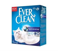Ever Clean - Наполнитель комкующийся с силикагелем для кошек (сиреневая полоса) Multi Crystals Blend - фото 16874