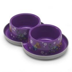 Moderna - Двойная нескользящая миска с защитой от муравьев Trendy - Друзья навсегда, фиолетовая, 2 *350 мл - фото 16919