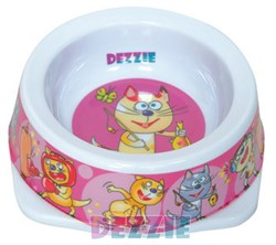 Dezzie - Миска для кошек, 150 мл, 12,5*12,5*4,5 см, пластик - фото 16929