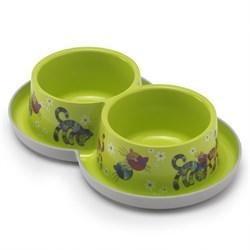Moderna - Двойная нескользящая миска с защитой от муравьев Trendy - Друзья навсегда, салатовая, 2 *350 мл - фото 16931