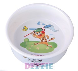 "Dezzie - Миска для кошек ""Охотник"", 150 мл, 10*10*4 см керамика - фото 16955"
