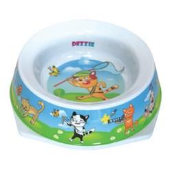 Dezzie - Миска для кошек, 300 мл, 16,5*16,5*5 см, пластик - фото 16958