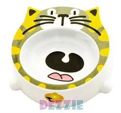 Dezzie - Миска для кошек, 200 мл, 16*16*4,5 см, пластик - фото 16980