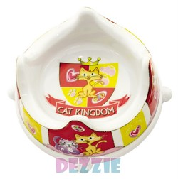 Dezzie - Миска для кошек, 300 мл, 16*16*7,5 см, пластик - фото 16990