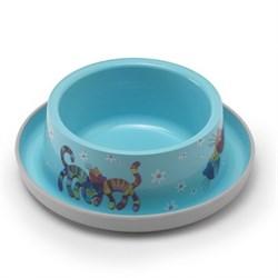 Moderna - Нескользящая миска с защитой от муравьев Trendy - Друзья навсегда, голубая, 350 мл - фото 17032