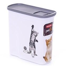"""Curver PetLife - Контейнер для корма """"Кошкина радость"""", малый, на 2 л, 20*9*19 см - фото 17050"""