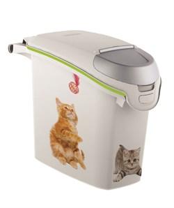 "Curver PetLife - Контейнер для корма ""Кошачьи Цап-царапки"" на 10кг/23л, 23*50*50см - фото 17051"