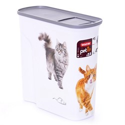 """Curver PetLife - Контейнер для корма """"Кошкина радость"""", большой, на 6 л, 28*12*28 см - фото 17052"""