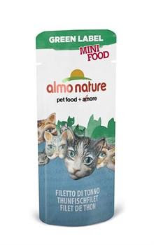 Almo Nature - Лакомство для кошек (филе тунца, 99% мяса) Green Label Mini Food Tuna Fillet - фото 17056