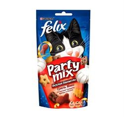 Purina Felix - Лакомство для кошек (с говядиной, курицей и лососем) Party Mix - фото 17098