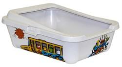 "Moderna - Туалет-лоток ""Граффити"" с бортами, 51х39х19см (Safari) - фото 17155"