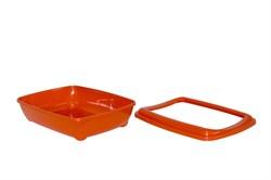 Moderna - Туалет-лоток средний с рамкой artist medium + rim, 42х30х12  оранжевый - фото 17163