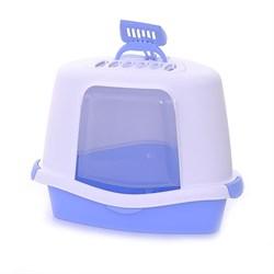 Stefanplast - Туалет Закрытый Угловой Sprint Corner Plus, голубой, 40*56*40см - фото 17164