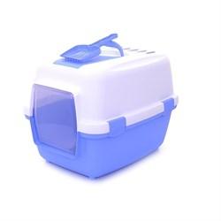 Stefanplast - Туалет закрытый Wivacat, с угольным фильтром, голубой, 55*40*40см - фото 17175
