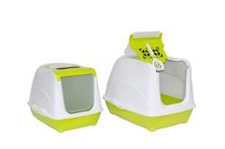 Moderna - Туалет-домик Jumbo с угольным фильтром, 57х44х41см, лимонно-желтый - фото 17177