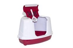 Moderna - Туалет-домик угловой Flip с угольным фильтром, 55х45х38см, розовый - фото 17180