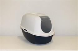 Moderna - Туалет-домик SmartCat с угольным фильтром, 54х40х41см, черничный - фото 17208