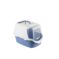 Stefanplast - Туалет-Домик Cathy Easy Clean с угольным фильтром, голубой, 56*40*40 см - фото 17209