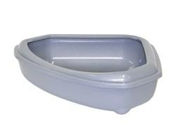 Moderna - Туалет-лоток угловой с рамкой corner+rim, 55х45х13, серый - фото 17220