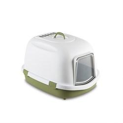 Stefanplast - Туалет закрытый Super Queen, с угольным фильтром, зеленый, 71x55x46,5 - фото 17226