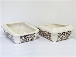 "Moderna - Туалет-лоток ""Сафари"" с бортами, 51х39х19см (Safari) - фото 17228"