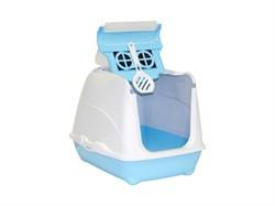 Moderna - Туалет-домик Flip с угольным фильтром, 50х39х37см, небесно голубой - фото 17233