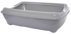 Moderna - Туалет-лоток средний с рамкой artist medium + rim, 42х30х12  серый - фото 17249