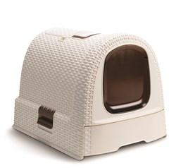 Curver PetLife - Туалет-домик для кошек, кремово-коричневый, 51*39*40см - фото 17250