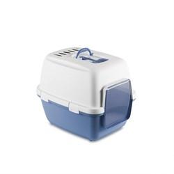 Stefanplast - Туалет-домик Cathy Comfort с уголным фильтром и совочком, голубой, 58х45х48см - фото 17260