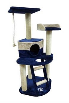 Papillon - Когтеточка Осло 49 x 49 x 120см голубо-бежевая/ Scratcher Oslo 49 x 49 x 120 cm blue/beige - фото 17310
