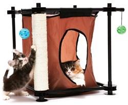 """Kitty City - Игровой комплекс с когтеточкой для кошек Тайное укрытие """"Hideaway"""", 44*45*45см - фото 17318"""