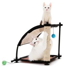 """Kitty City - Игровой комплекс с когтеточкой для кошек Белая гора """"Climbing Hill"""", 44*45*45см - фото 17323"""